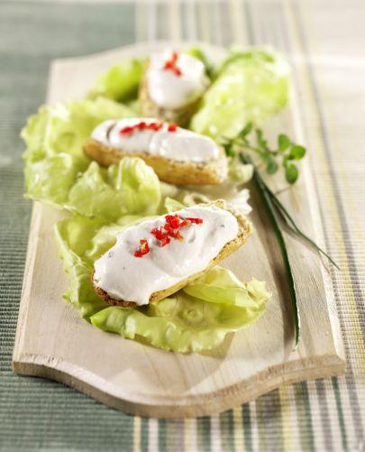 Crostini Vegani con Crema di Tofu Aromatica