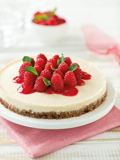 Cheesecake Vegana ai Lamponi