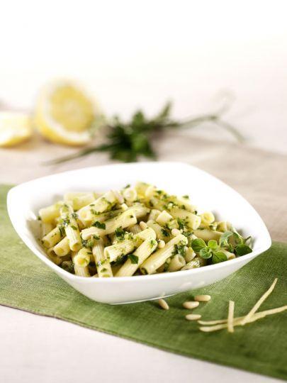 Sedanini con Pesto di Erbe al Limone