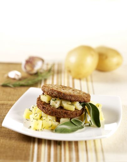Burger Vegetariano con Patate
