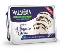 Ice cream with low sugar Cocoa ripple