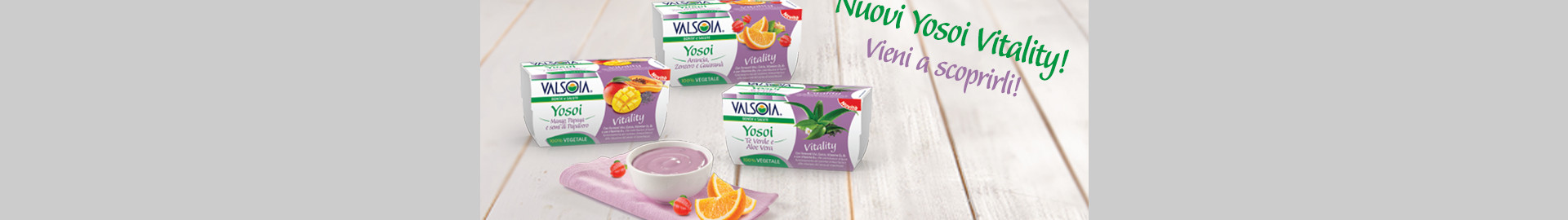 Yosoi Vitality: la nuova alternativa vegetale Valsoia allo yogurt
