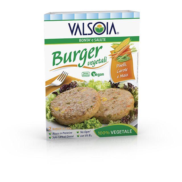 Burger Piselli Carote e Mais