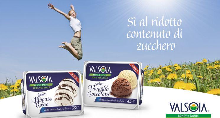 Nuova linea Valsoia gelati a ridotto contenuto di zucchero