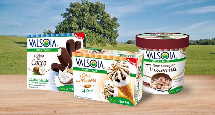 Da Valsoia, nuovi Gelati Vegetali base Cocco, Mandorla, Anacardo: per una bontà senza limite.