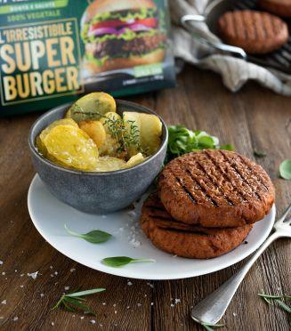 Valsoia Super Burger - Ricco di proteine, senza allergeni, senza glutine