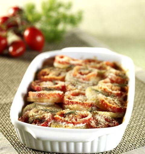 Teglia di patate e pomodori al finocchietto