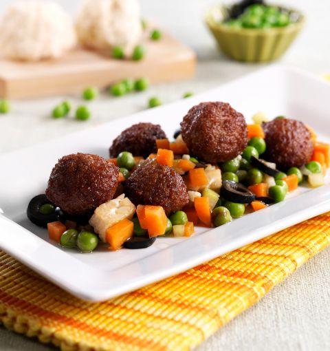 Insalata Tiepida di Polpettine Vegetariane e Verdure