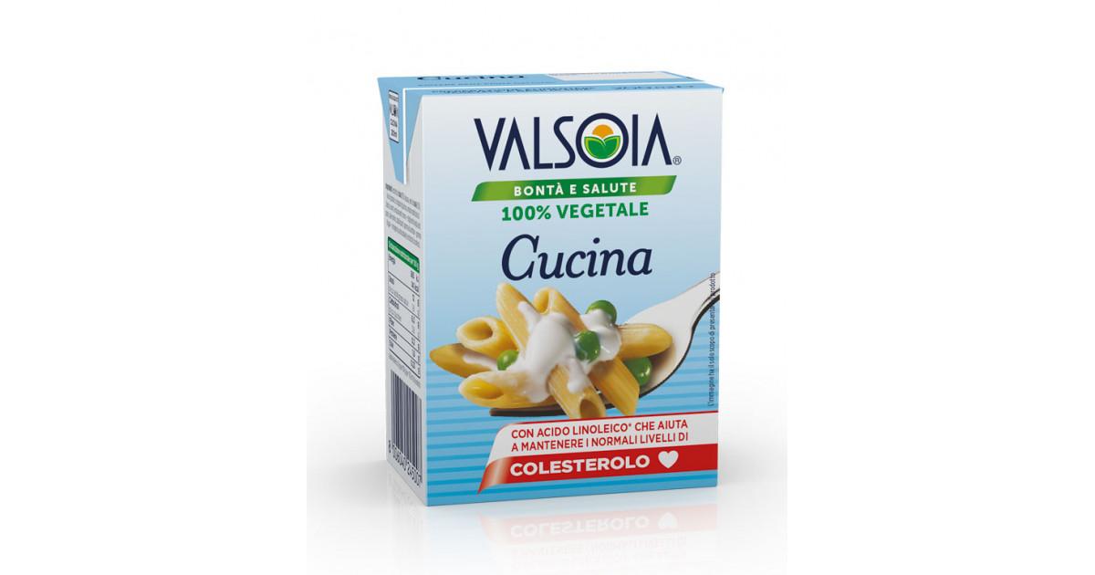 Alternativa Vegetale Di Soia Senza Lattosio Alla Panna Da Cucina Valsoia